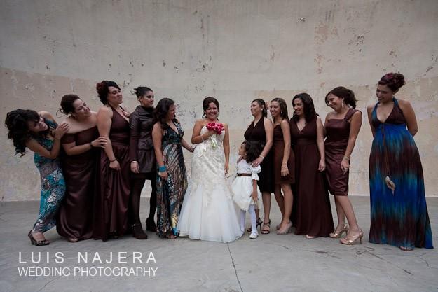 damas de la novia el día de la boda foto