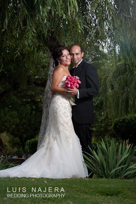 una pose clásica de fotografía de boda